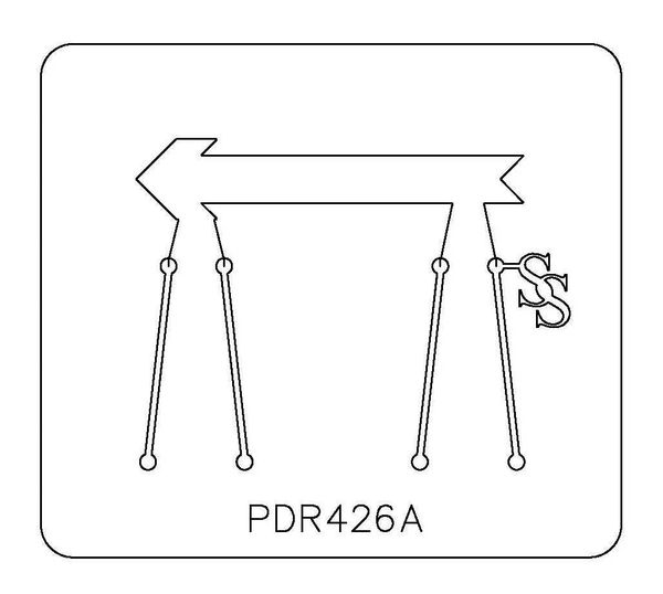 PANCAKE DIE PDR426 RING SHANK ARROW