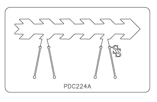 PANCAKE DIE PDC224 CUFF ARROW