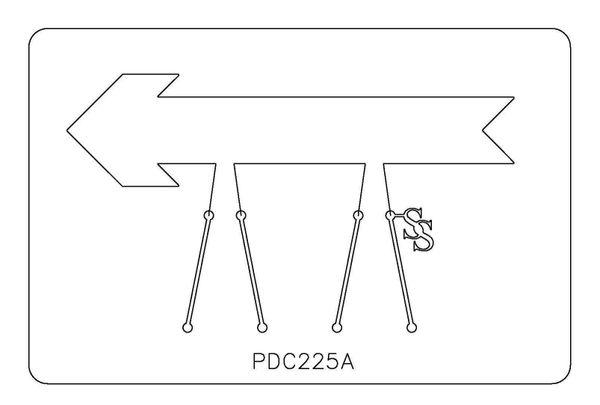PANCAKE DIE PDC225 CUFF ARROW FAT