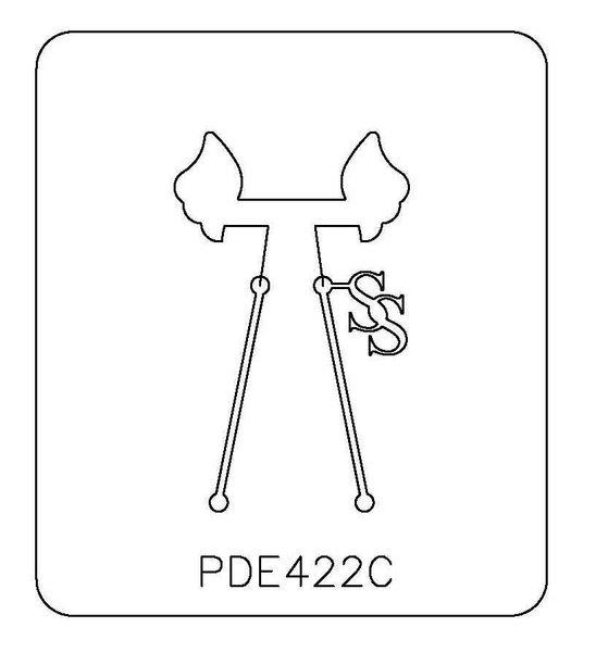 PANCAKE DIE PDE422C EARRING WING