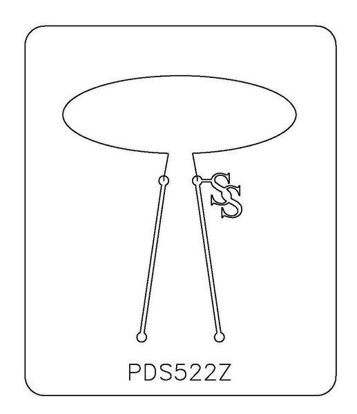 PANCAKE DIE PDS522 SHAPE 22 OVAL 1