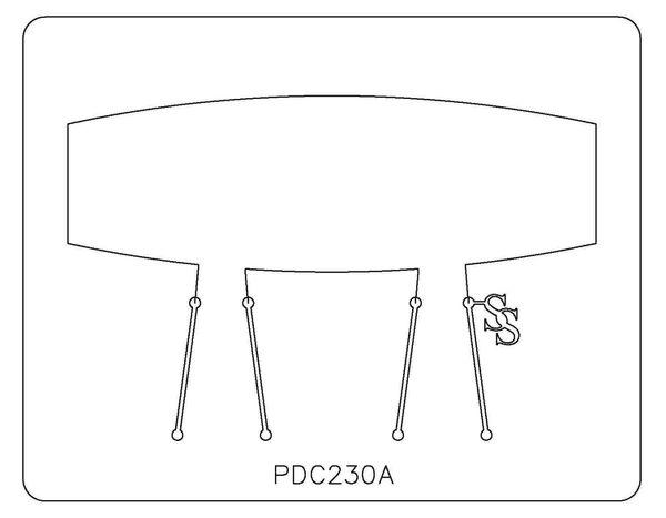 PANCAKE DIE PDC230 CUFF SQUARE TAPER