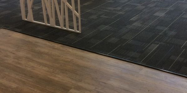 Vinyl plank and carpet tile office fitout