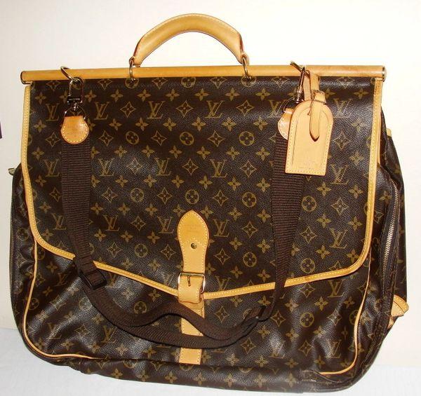 2de37426 SOLD !! Louis Vuitton Sac Chasse Hunting Travel Monogram Bag ...