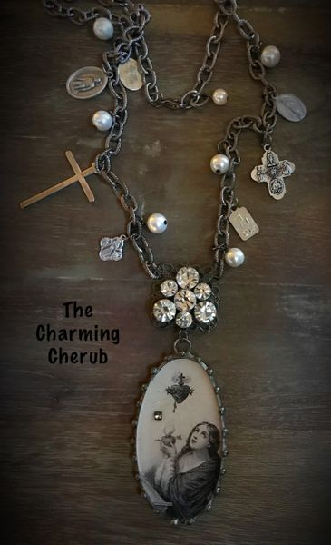 Religious long necklace