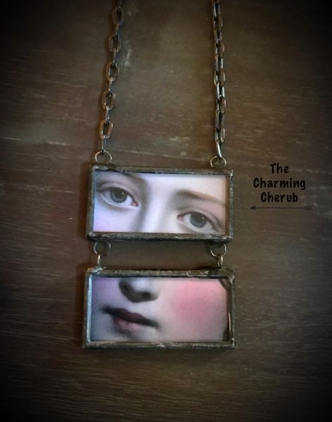 Victorian eye necklace