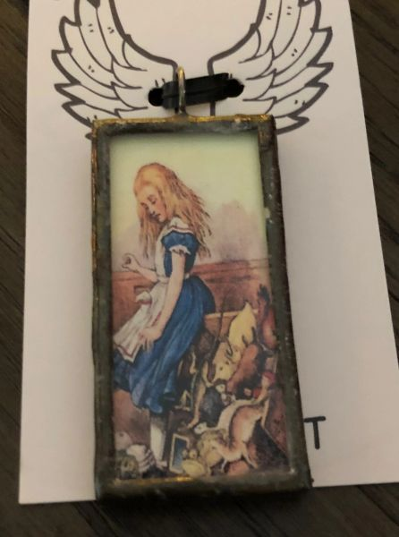 Alice and wonderland pendant