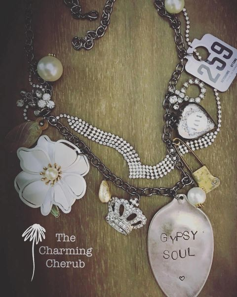 Gypsy soul junked up necklace