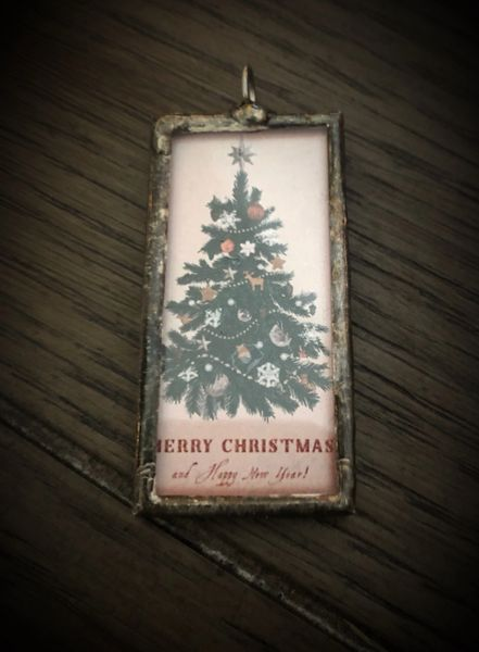 Postcard tree pendant