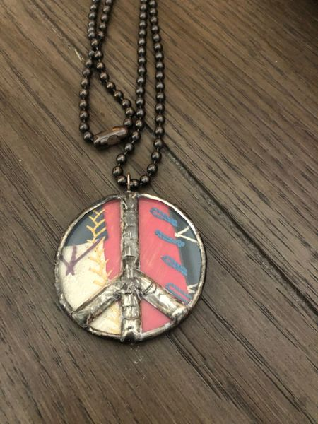 Large piece necklace crazy quilt