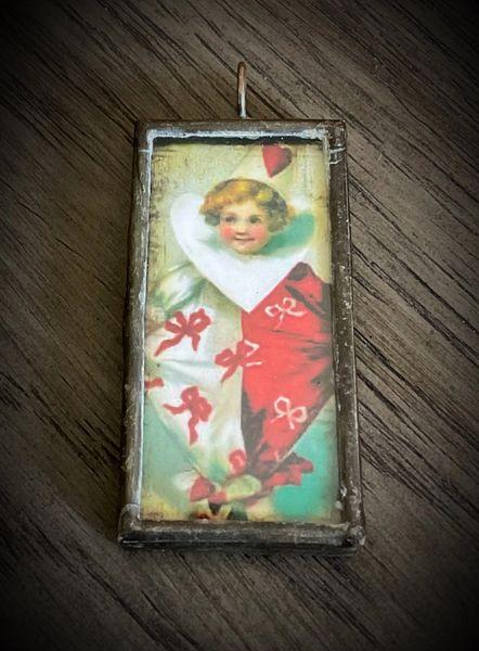 Vintage Valentines pendant
