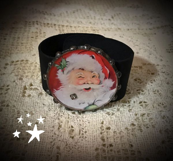 Christmas Leather cuffs