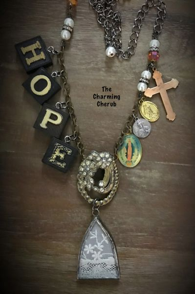 Church window necklace HOPE