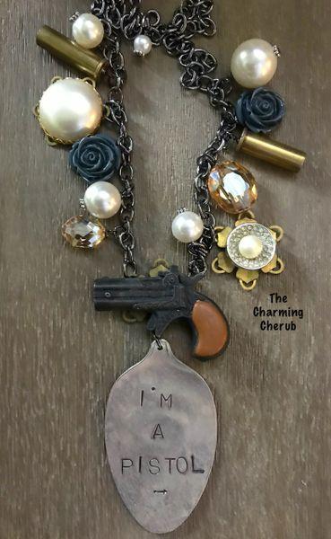 Junked up I'm a pistol necklace