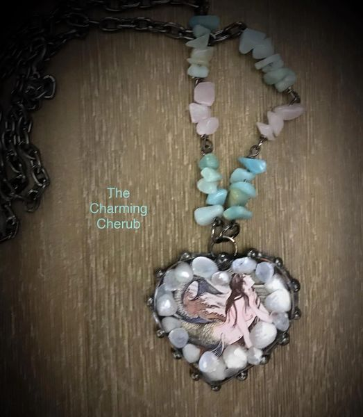 Mermaid in shells necklace