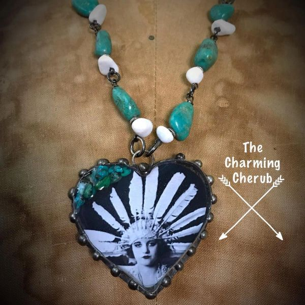 Indian heart shape necklace