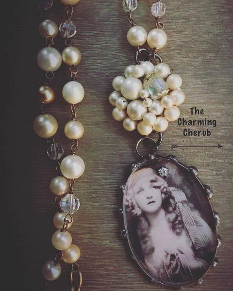 Gypsy girl long necklace
