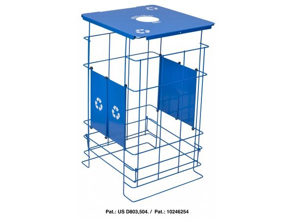 Collapsible Blue Grid Recycler