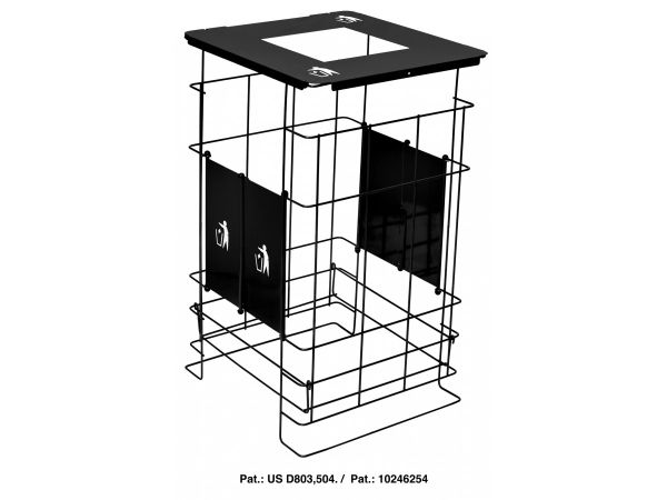 Collapsible Grid Black Waste Container
