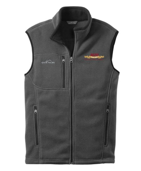 Eddie Bauer® Men's Full-Zip Fleece Vest Gray Steel MNB logo