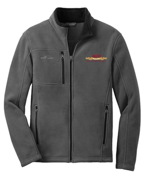 Eddie Bauer® Men's Full-Zip Fleece Jacket Steel Grey MNB Logo
