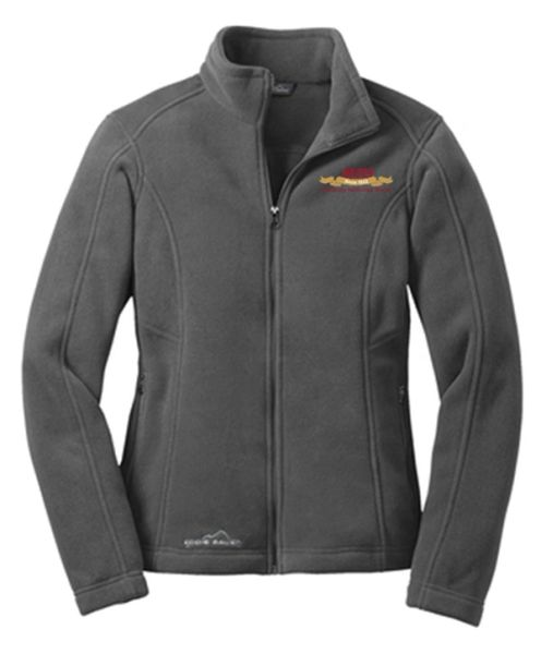 Eddie Bauer® Ladies' Full-Zip Fleece Jacket Steel Grey MNB Logo