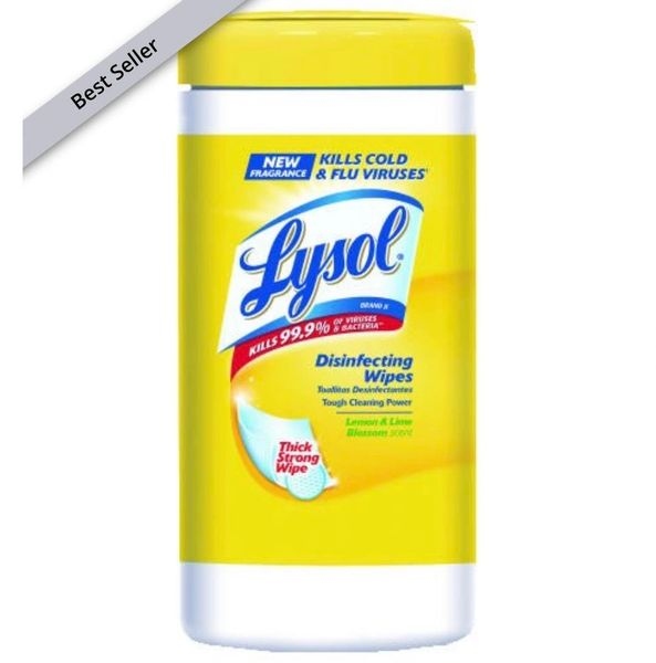 Lysol Sanitizing Wipes -80 sheets per Canister