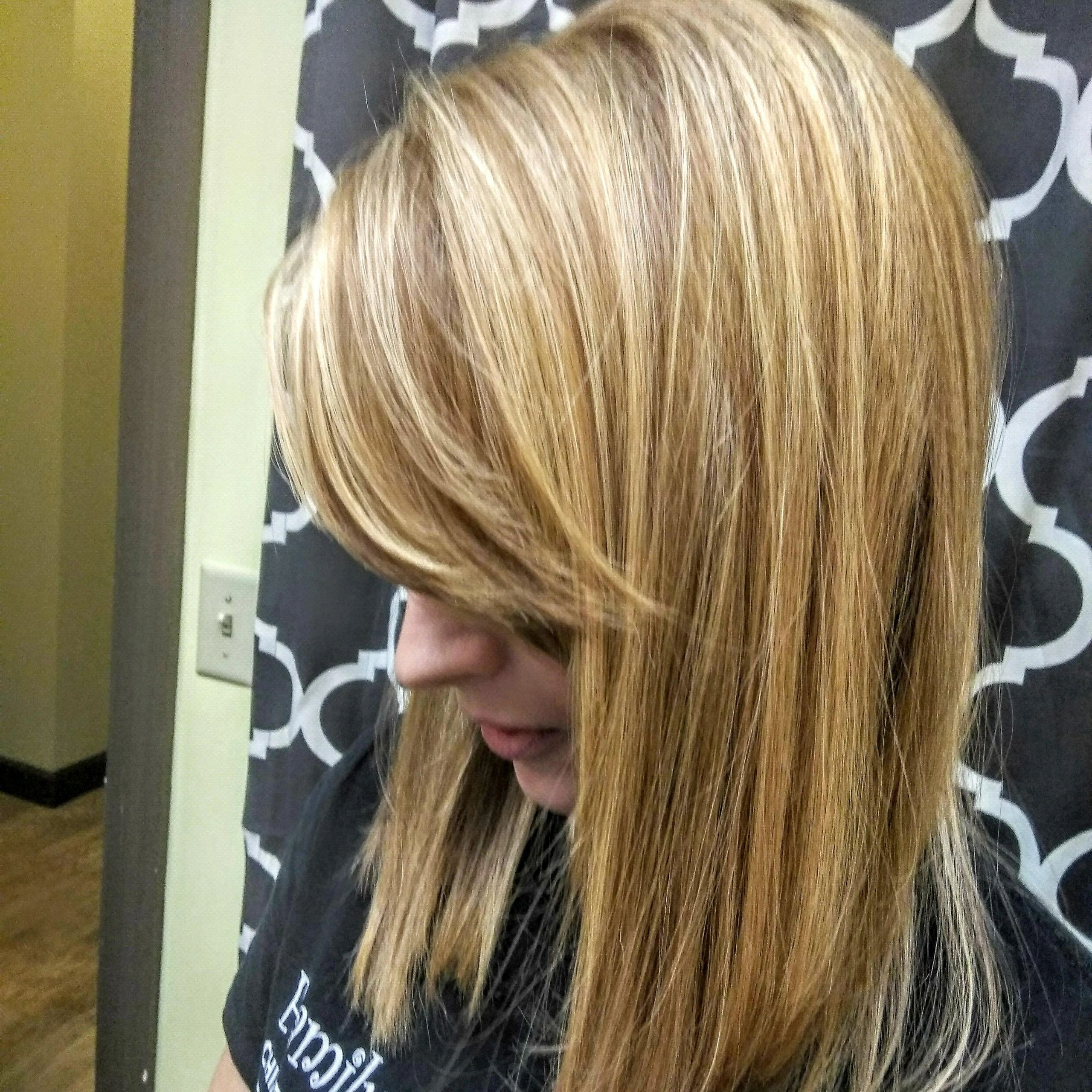 BEAUTIFUL LONG LAYERED CUT WITH BANGS