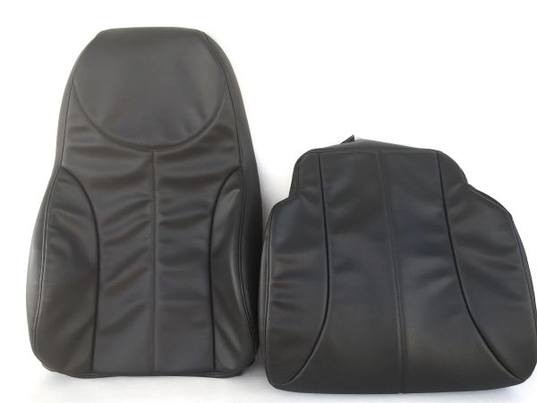 2008-2016 INTERNATIONAL AIR RIDE REPLACEMENT SEAT COVER (Backrest+Bottom)  VINYL-VERY DARK GRAY