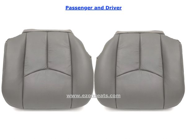 Super 2003 2006 Silverado Avalanche Seat Cover Vinyl Driver And Passenger Set Medium Pewter Caraccident5 Cool Chair Designs And Ideas Caraccident5Info
