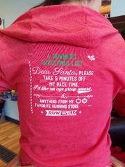 """A Runners Christmas List"" Festive Hoodie"