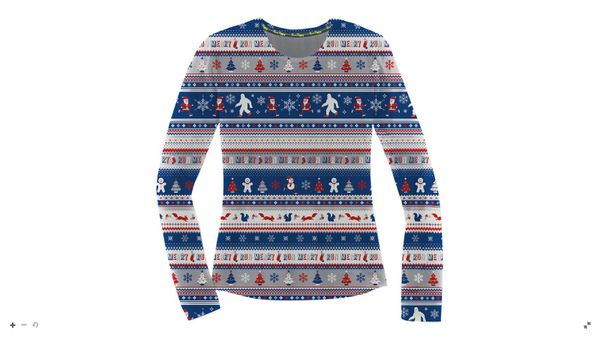 Womens Brooks Ugly Sweater Long Sleeve