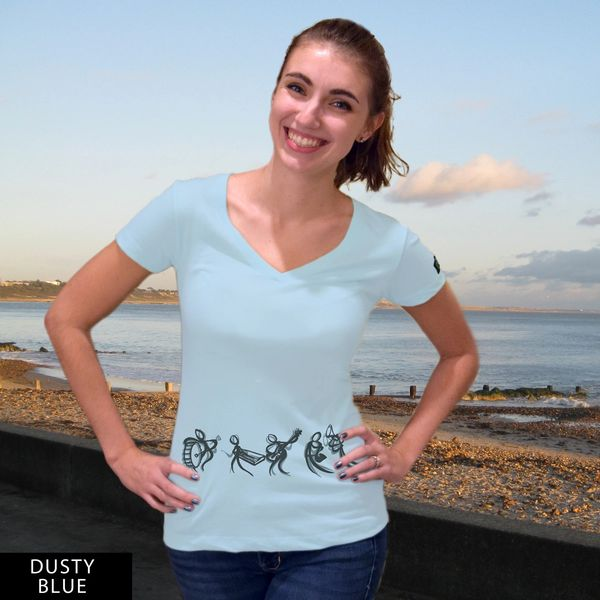 Waist Band V-Neck T-Shirt