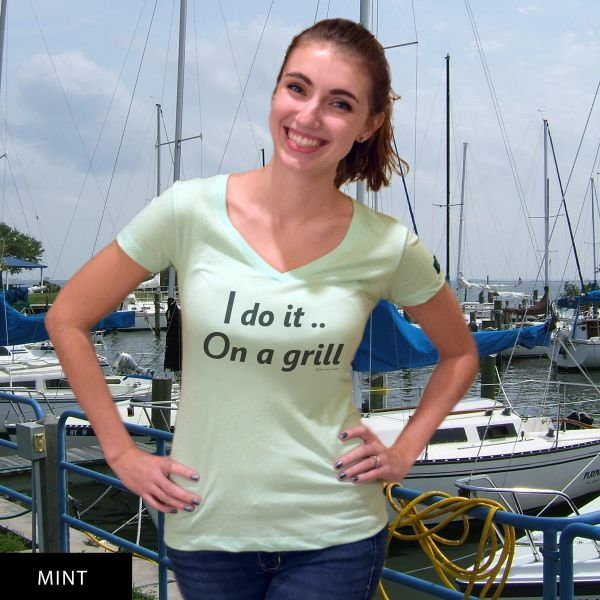 I do it On a grill...DU? V-Neck T-Shirt