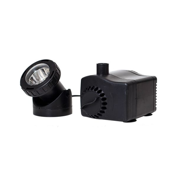 170 GPH Fountain Pump Plus Light with Low Water Auto Shut-Off Feature