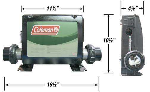 Coleman Spa Pak Control Box Cole Vs500z 5 5 Kw Titanium