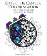 Mosa's adult coloring book paved way for adults to color, before current craze. Center focused  art.
