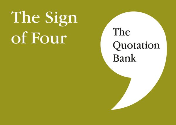 The Quotation Bank - The Sign of Four GCSE Revision and Study Guide for English Literature 9-1