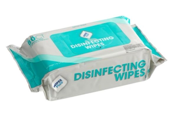 WipesPlus 80 Count Alcohol Free Single Use Disinfecting Wipes (12cs/80ct)