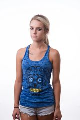 KC Sugar Blue Ladies Racerback Burnout Tank Top