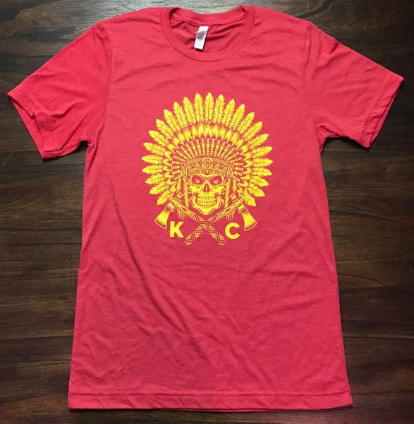 KC Headdress Unisex Super Soft Crew Tee Red