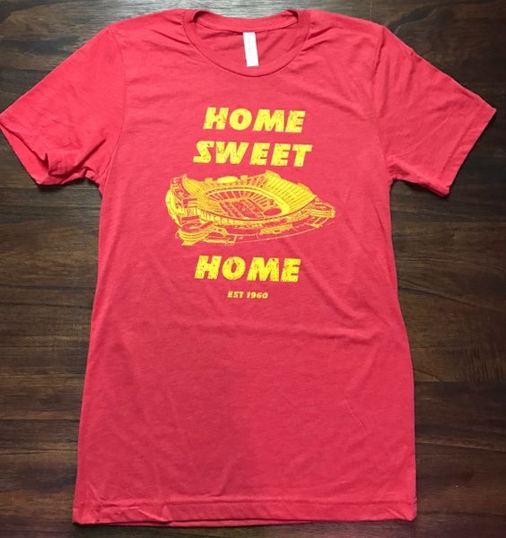 Home Sweet Home Unisex Super Soft Red Crew Tee