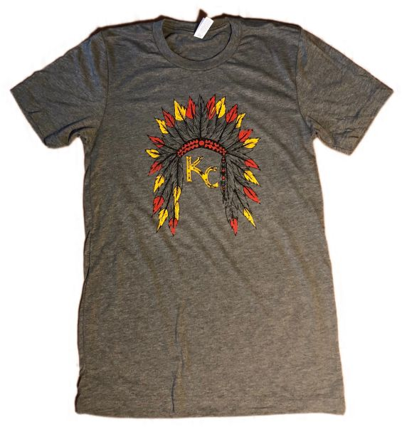 KC Headress Gray Triblend Unisex Super Soft Crew Tee