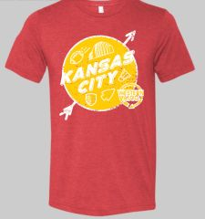 Kansas City Landmark Unisex Super Soft Red Crew Tee