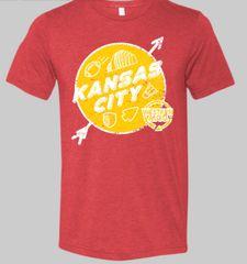 Kansas City Landmark Unisex Super Soft Red Crew Tee
