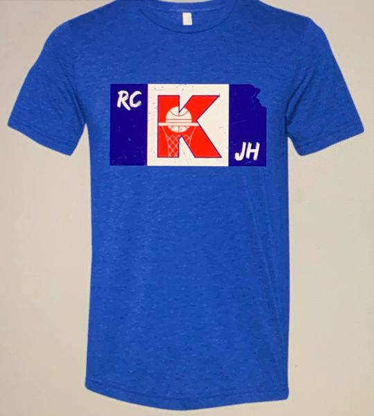 Kansas Unisex Super Soft Royal Blue Crew Tee