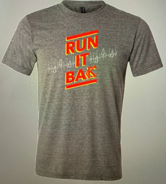 Run It Back KC Unisex Super Soft Gray Crew Triblend Tee