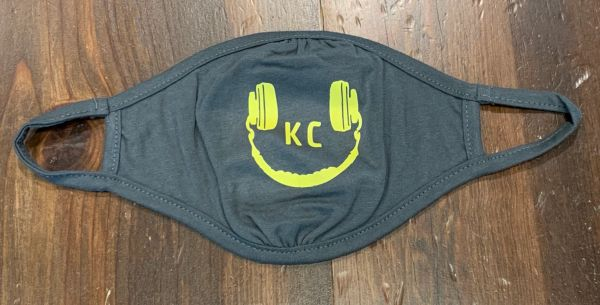 Smiley KC FACE Mask -4.3 oz., 40/30/30 recycled RPET polyester/recycled cotton/cotton