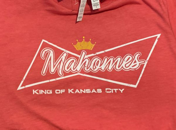 King of Kansas City Mahome Super Soft Red Crew Triblend