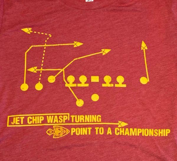 Jet Chip Wasp Super Soft Red Crew Triblend